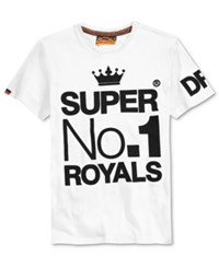 Superdry Men's Wings And Kings Graphic Print T Shirt Optic White