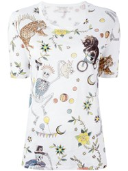 Zadig And Voltaire Multi Prints T Shirt White