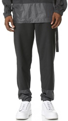 3.1 Phillip Lim Tapered Lounge Pants With Combo Hem Cuffs Charcoal Melange