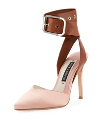 Alice Olivia Rachelle Satin Two Tone Pump Pink Gray