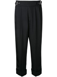 Tom Ford Cropped Trousers Women Acetate 36 Black