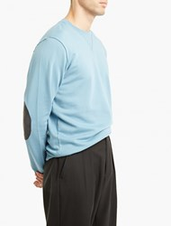 Maison Martin Margiela Teal Over Sized Dyed Sweatshirt Blue