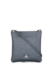 Vivienne Westwood Crosshatch Textured Crossbody Bag Grey