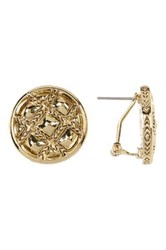 House Of Harlow Phoebe Quilted Button Earrings Metallic