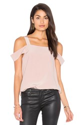 Tibi Cut Out Sleeve Tank Pink