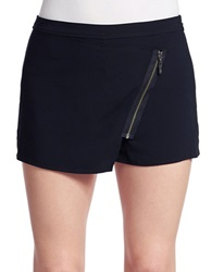 Guess Asymmetrical Hem Zip Skort Jet Black