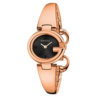 Women's Guccissima Stainless Steel Bangle Strap Watch Rose Gold Black