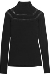 Bailey 44 Jersey Turtleneck Top Black