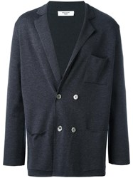 Fashion Clinic Double Breasted Cardigan Grey