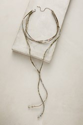 Anthropologie Layered Pyrite Choker Necklace Green