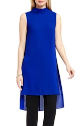 Vince Camuto Women's Roll Neck Long Tunic Optic Blue