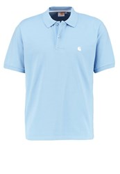 Carhartt Wip Chase Loose Fit Polo Shirt Glacier White Light Blue