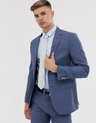 Tommy Hilfiger Plain Slim Fit Suit Jacket Blue