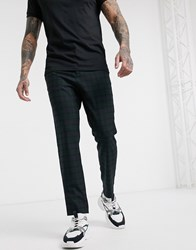 Mennace Tapered Trouser In Navy Blackwatch Check