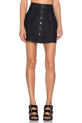 Motel Angela Mini Skirt Black