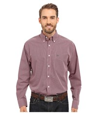 Ariat Inwood Wrinkle Free Shirt Crimson Flame Men's Long Sleeve Button Up Purple