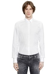Dolce And Gabbana Gold Fit Stretch Cotton Poplin Shirt