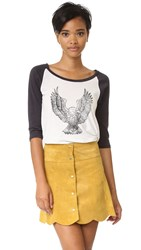 Clayton Eagle Baseball Tee White