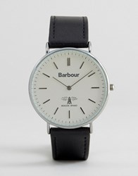 Barbour Hartley Leather Watch In Black