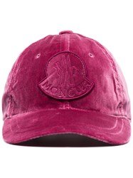 Moncler Velvet Cap Pink And Purple