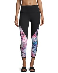 The Balance Collection Esme Cross Band Cropped Leggings Black Pattern