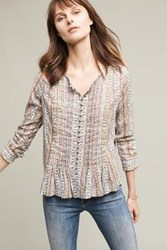 Maeve Gelise Button Blouse Light Denim
