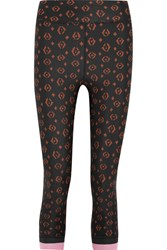 The Upside Magical Eye Printed Stretch Jersey Leggings Black