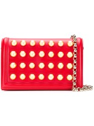 Elie Saab Dome Stud Shoulder Bag Red