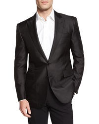 Ralph Lauren Black Label Anthony Peak Lapel Jacquard Dinner Jacket Navy