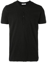 Paolo Pecora Henley T Shirt Men Cotton Xl Black