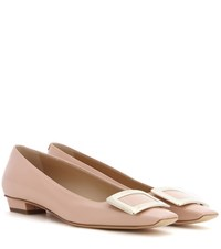 Roger Vivier Belle Patent Leather Ballerinas Pink