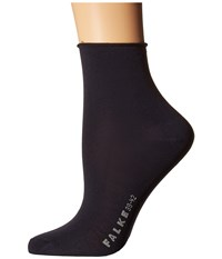 Falke Cotton Touch Short Dark Navy Women's Crew Cut Socks Shoes