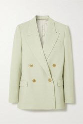 Acne Studios Janny Double Breasted Woven Blazer Mint
