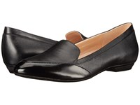 Naturalizer Peace Black Leather Shiny Women's Flat Shoes