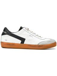 Leather Crown Lace Up Sneakers Rubber White