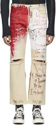 Faith Connexion Off White Tag Distressed Jeans
