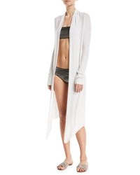 Marie France Van Damme Michi Open Front Midi Cardigan One Size White