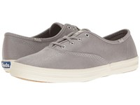 Keds Champion Metallic Canvas Silver Metallic Women's Lace Up Casual Shoes