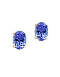 Effy Tanzanite And 14K Yellow Goldplated Stud Earrings Blue