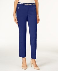 Jm Collection Petite Ankle Belted Pants Only At Macy's Bright Sapphire