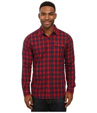 Volcom Fulton Long Sleeve Flannel Blood Red Men's Clothing