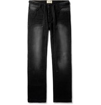 Fear Of God Belted Cotton Canvas Trousers Black