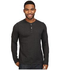 The North Face Long Sleeve Copperwood Henley Tnf Black Men's Clothing