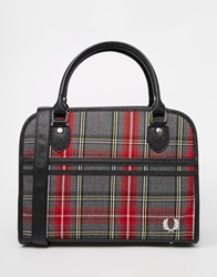 Fred Perry Signiture Tartan Bowilng Bag Grey