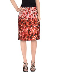 Blue Les Copains Skirts Knee Length Skirts Women Red