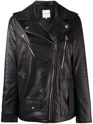 Each X Other Oversized Leather Jacket Black