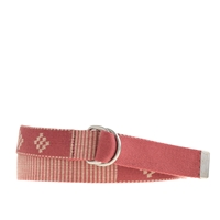 J.Crew Woven Brick Pattern Belt Brick Red