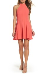 Mary And Mabel Women's Maybel Fit Flare Dress Coral