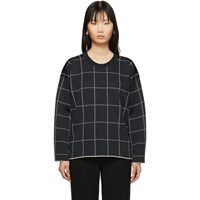 3.1 Phillip Lim Black Cropped Jersey Roll Pullover