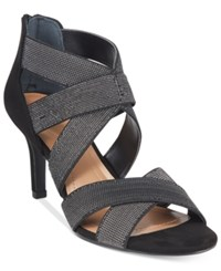 Styleandco. Style Co. Seleste Stretchy Pumps Only At Macy's Women's Shoes Black Silver